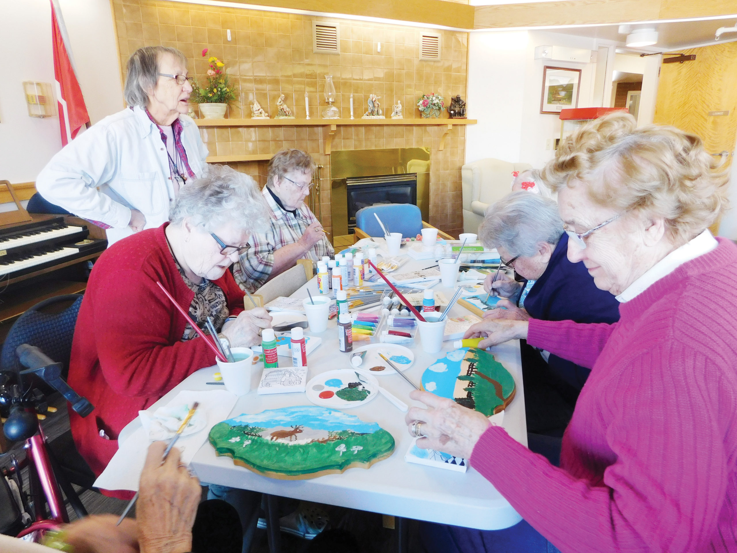 New artists picking up the brush at Elk Point Heritage Lodge