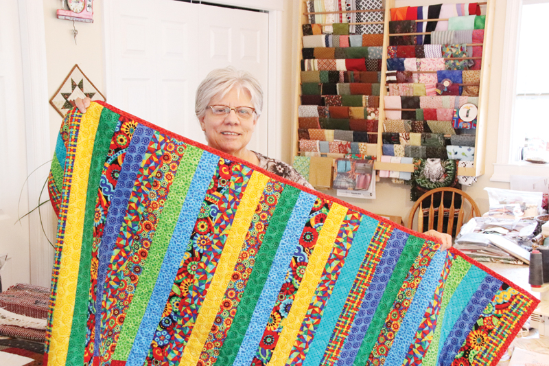 Quilts offer comfort to cancer patients