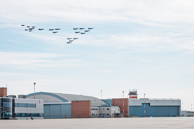 4 Wing fills the sky for RCAF's 97th anniversary