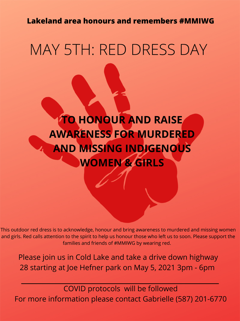 Red Dress event will honour missing and murdered Indigenous women and girls